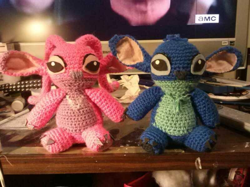 Stitch dolls (angel and stitch) by catqueen136