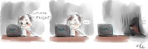 Me watching Frozen by Sango94