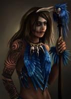Bird Shaman by GremlinCat