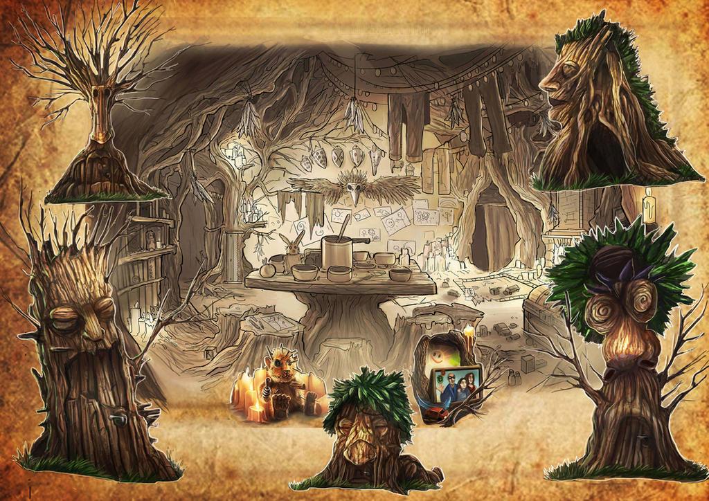 Peter pan hideout and entrances by GremlinCat