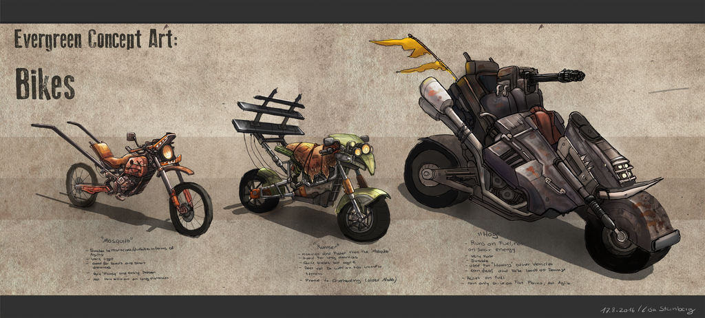 evergreen bikes (rough)concept by GremlinCat