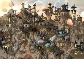 Elven Village by Wings-of-Art