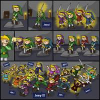 Zelda 16 Swords by Wings-of-Art