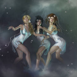 Dance of the Goddesses by louly