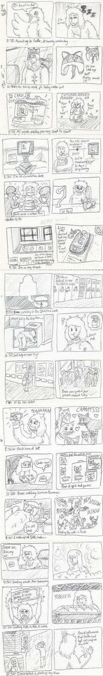 Hourly Comic Day 2018 by LaqueusAxolotl