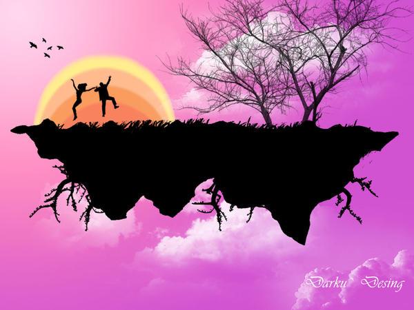 Island on the sky by ciocolatacuvenin