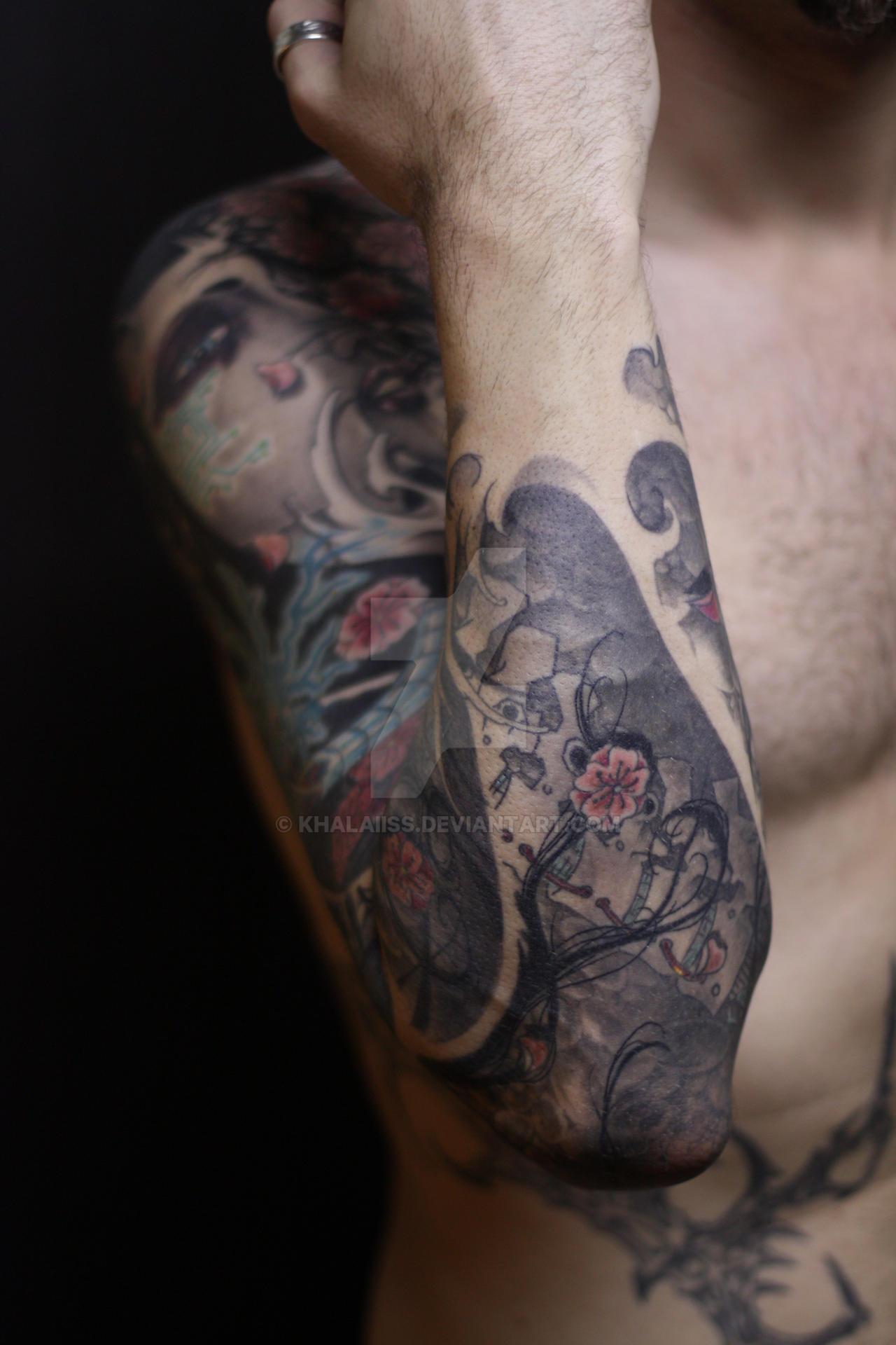 Japanese Tattoo Forearm By Khalaiiss On Deviantart