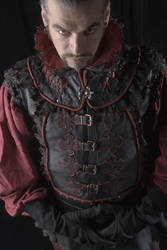 Medieval leather vest by Khalaiiss