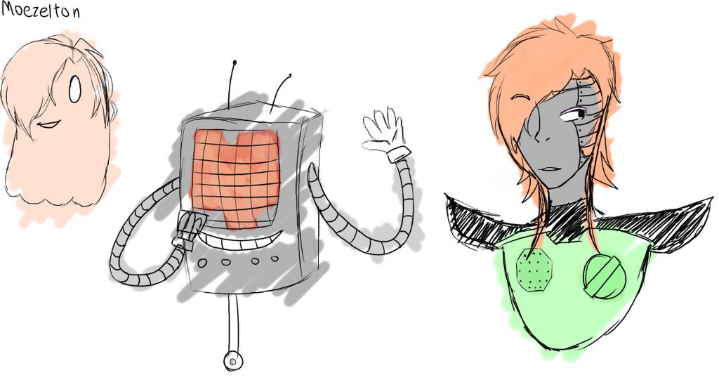 Moezelton Concept (Undertale/Lavatale Character) by CheesecakefaceAJ