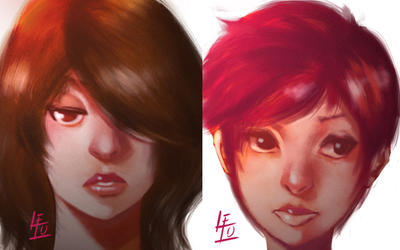 Two faces by Lelo-Okami