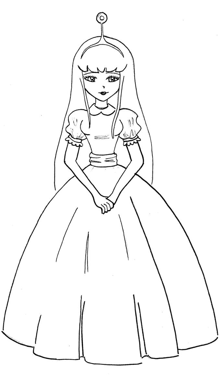 Princess Bubblegum Line Art By Thebeautifulfear On Deviantart