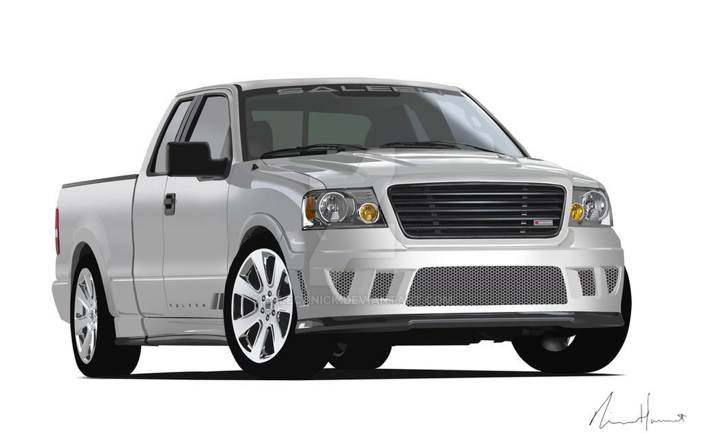 saleen ford truck vector by telecanick on deviantart. Black Bedroom Furniture Sets. Home Design Ideas