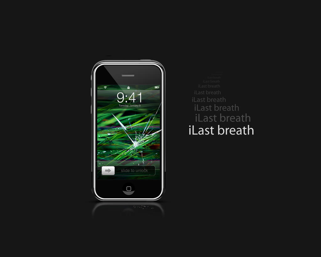 Broken iPhone by Kopessius