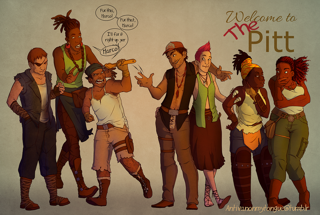 The Pitt Crew - Concept by subomouse