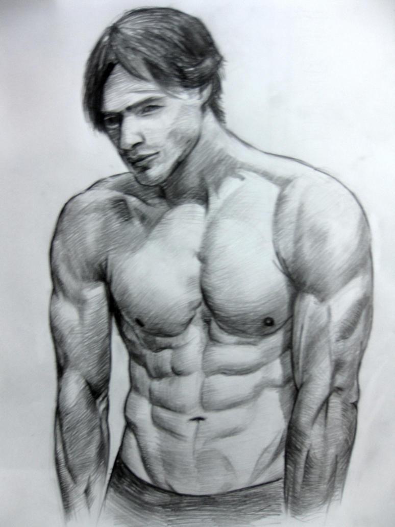 Half Body Sketch 3 By Jevolutions On DeviantArt