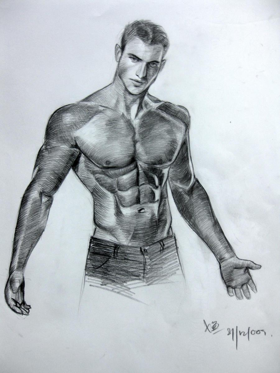 Half Body Sketch 6 By Jevolutions On DeviantArt