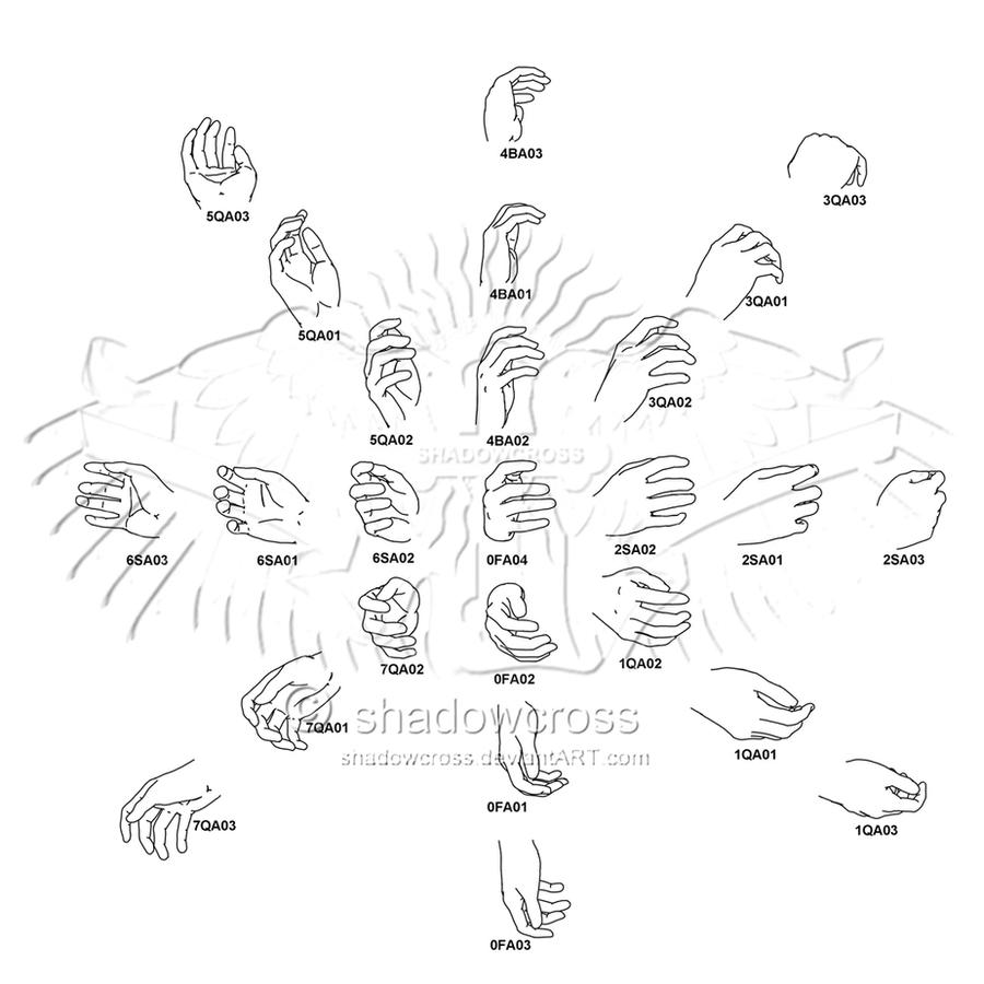 Hand Study Angle Chart 1 by Shadowcross