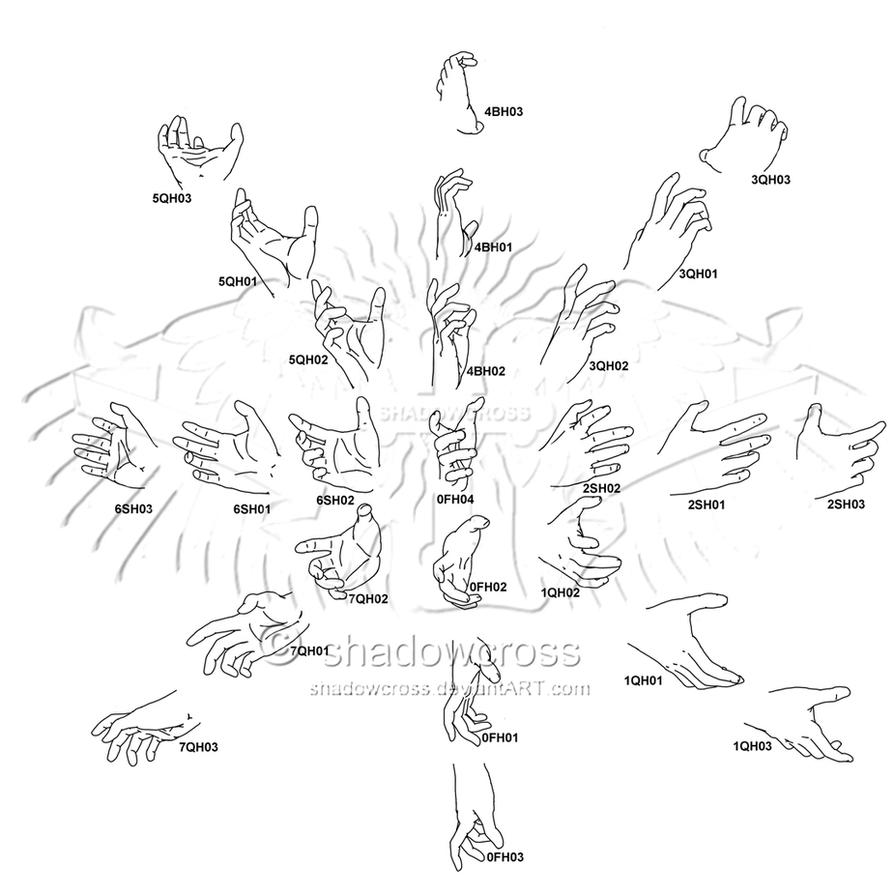 Hand Study Angle Chart 8 by Shadowcross