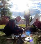 Lagerliv, donlandska knektar by Krigshjartan