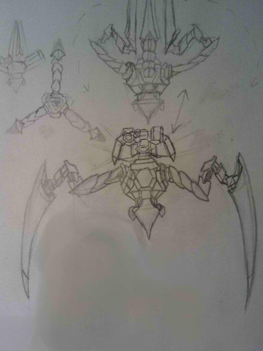Tripod Doodle by scarress