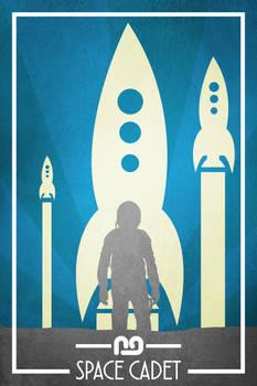 Space Cadet Retro Poster