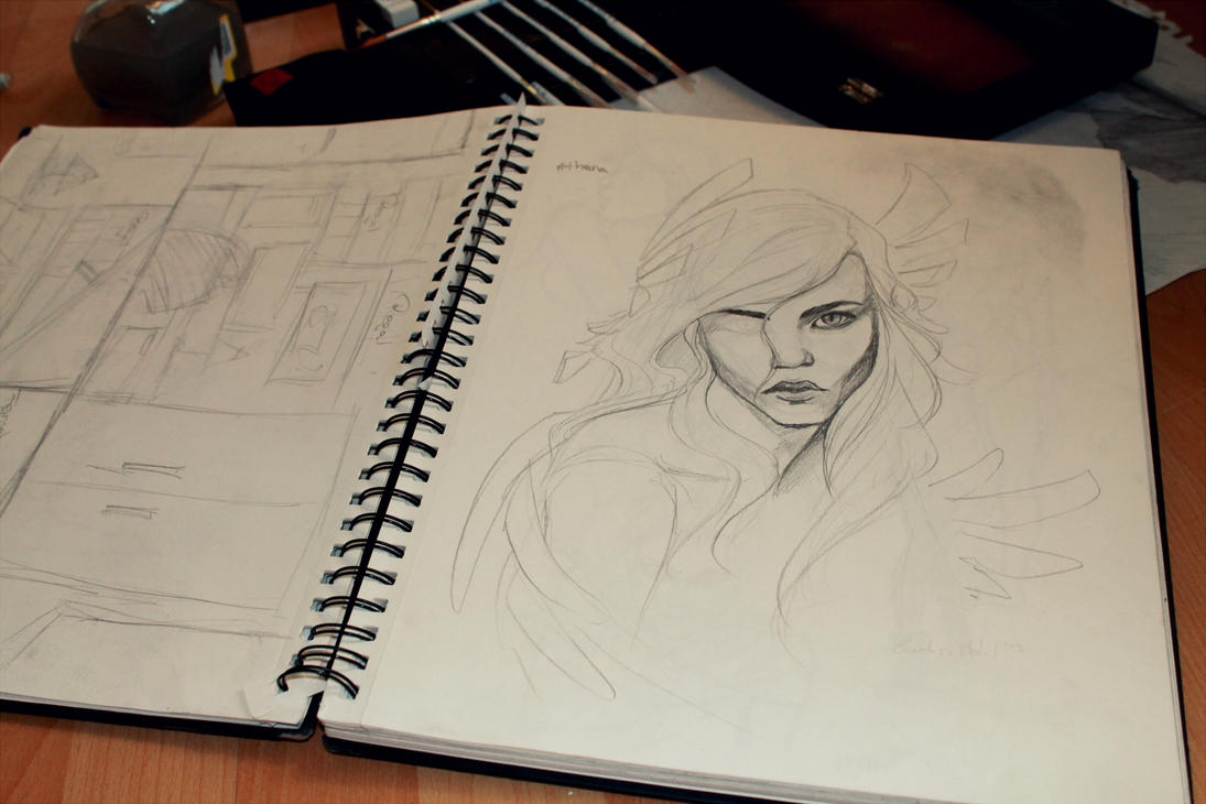 unfinished sketch of Athena by Unfinished Sketch