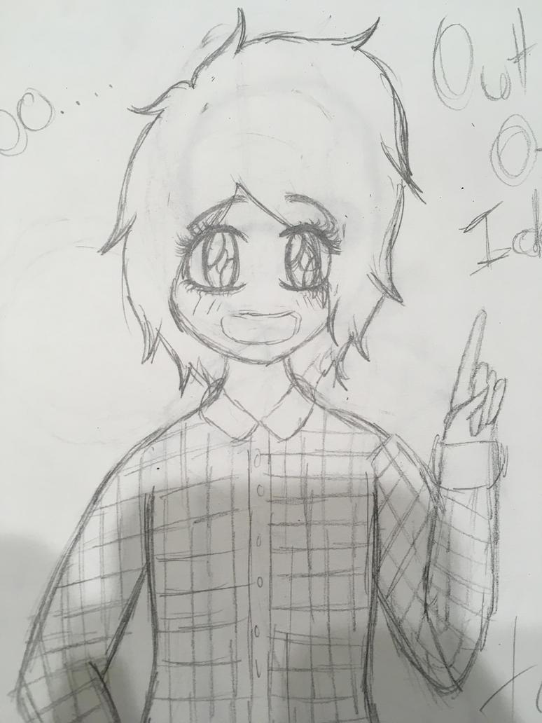 Me doodle by QueenEmoTrash