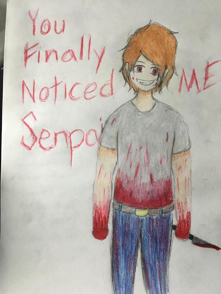 Senpai Noticed Him by QueenEmoTrash