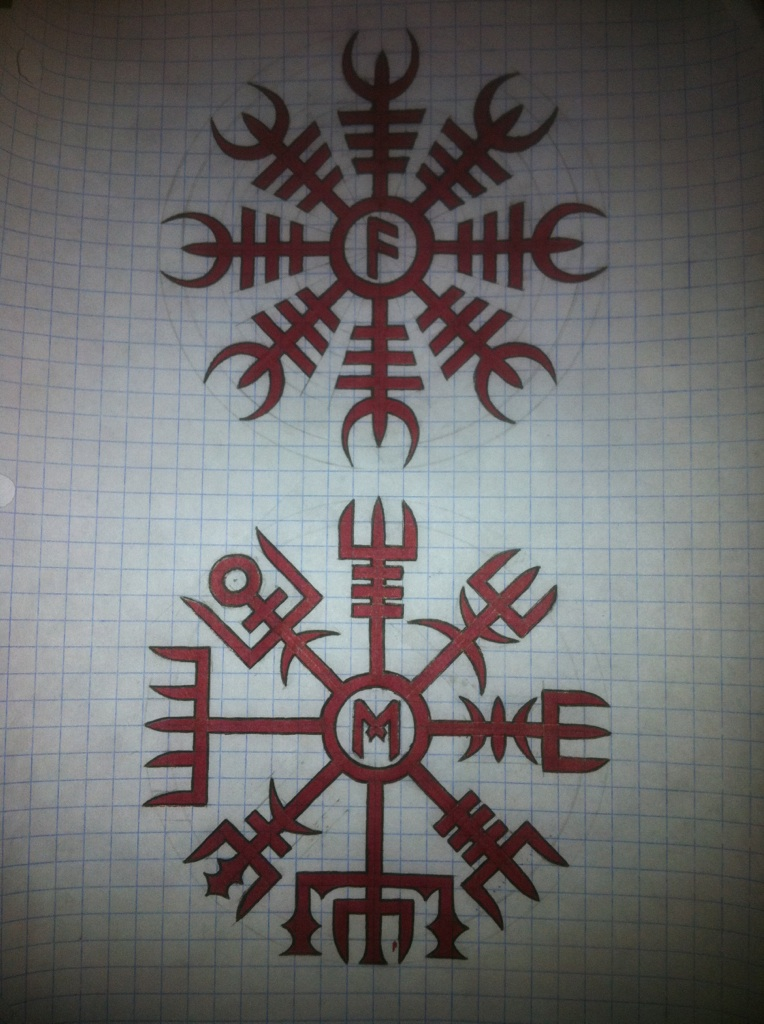 Helm of awe runic compass by acidicmind on deviantart for Helm design