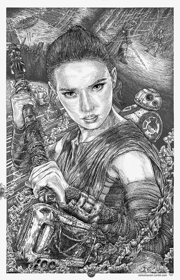 I'm no one - Rey by Fluorescentteddy