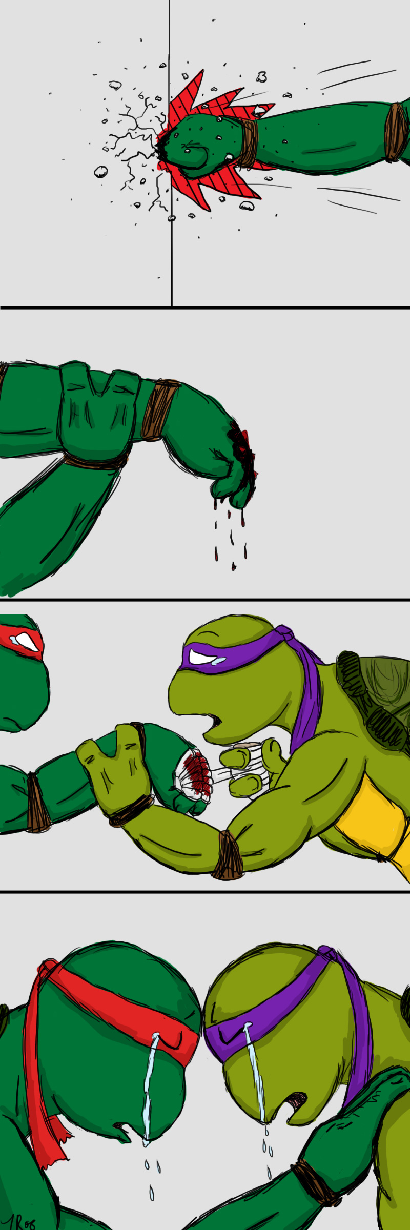 Raph And Donnie By Luckycyberbunny On Deviantart