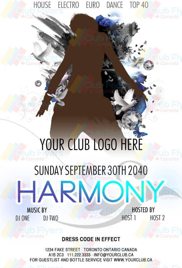 Free Harmony Nightclub Party Flyer Psd Download By Clubflyerscanada