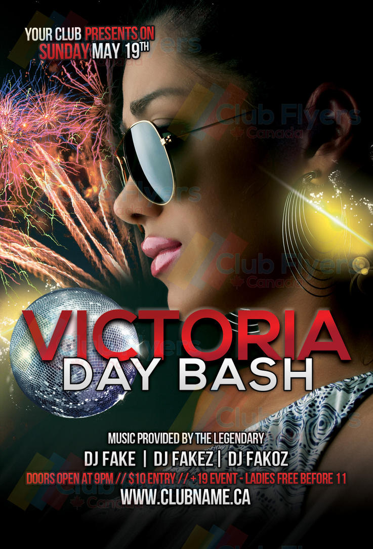 may 24 victoria day long weekend party flyer by clubflyerscanada on deviantart. Black Bedroom Furniture Sets. Home Design Ideas