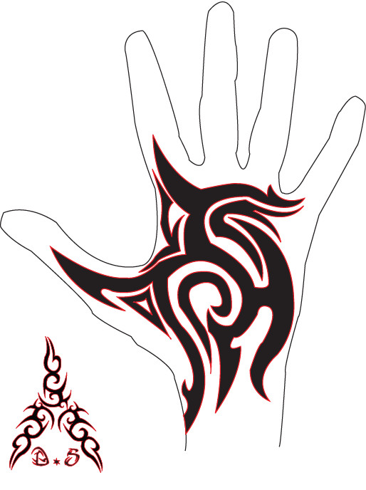 Tribal Hand Tattoo