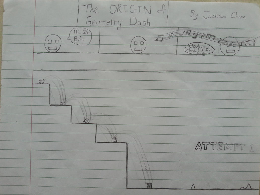 Sketch The Origin Of Geometry Dash By Jacksonchen On