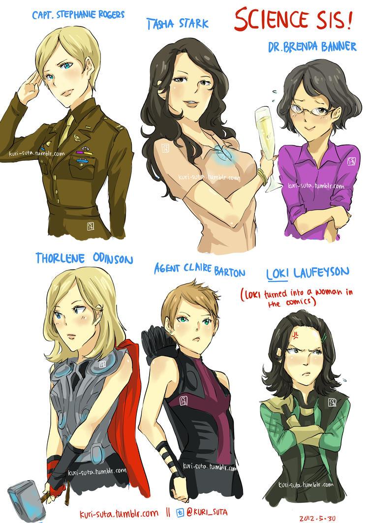Avengers Genderbend by christasyd on DeviantArt