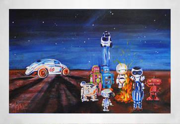 Paintings for Children: Desert Race