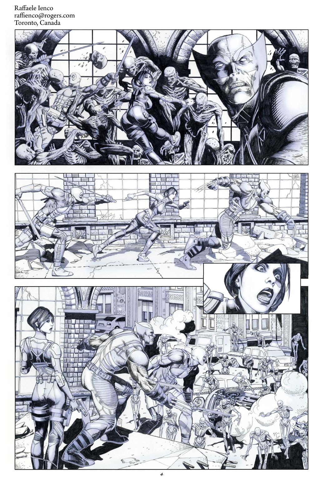 Wolverine Deadpool Domino pencils04 by Raffaele-Ienco