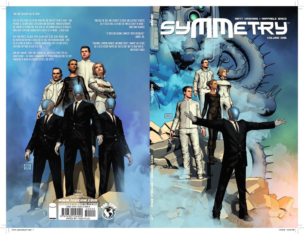 Symmetry volume 1 trade paperback cover by Raffaele-Ienco