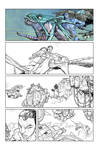 Avatar comic sample page1 line work and colors