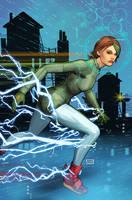 Cyber Force variant cover finished Raff Ienco by Raffaele-Ienco