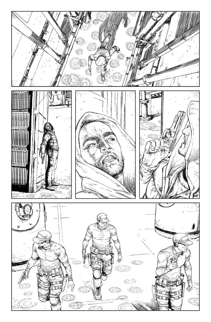 Postal S2 issue01 page01 linework by Raffaele-Ienco