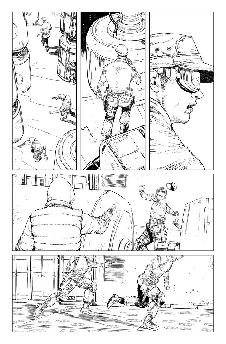 Postal S2 issue01 page02 linework by Raffaele-Ienco