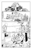 Postal S2 issue01 page04 linework by Raffaele-Ienco