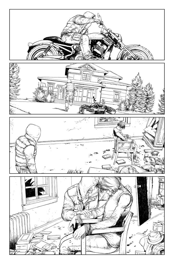 Postal S2 issue01 page04 linework by Raffaele-Ienco