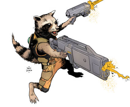 Rocket Raccoon sketch1