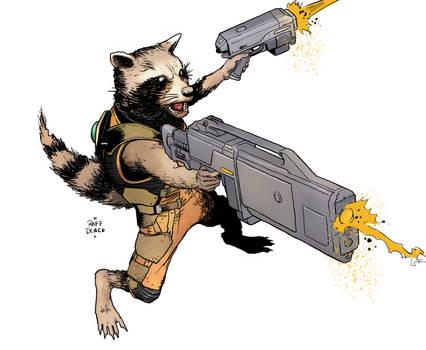 Rocket Raccoon sketch1