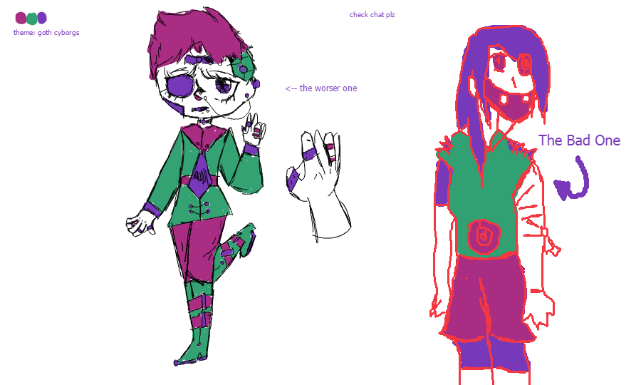 The Two Free Adopts Made With Three Color Thing by AFX777