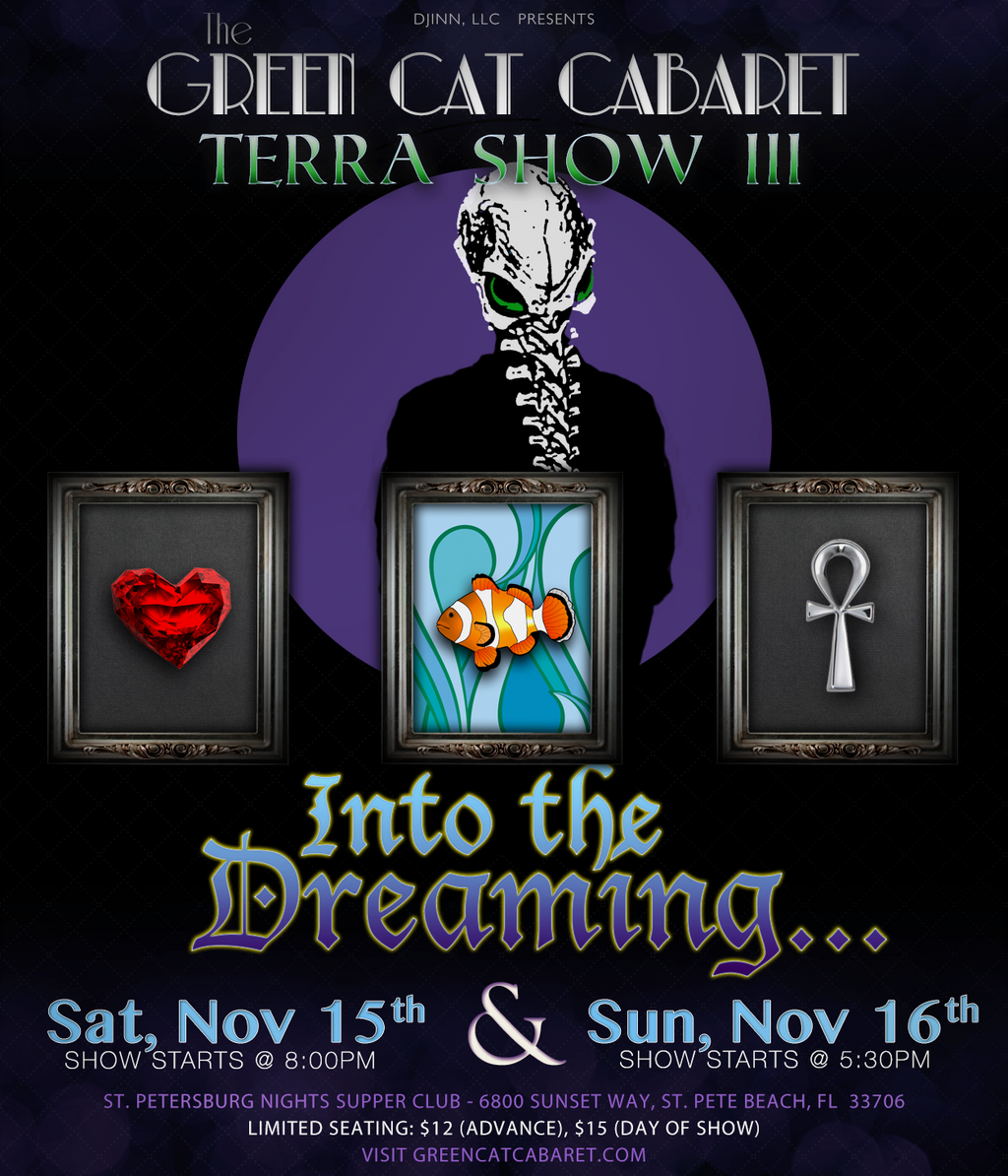Green Cat Cabaret: Terra Show III by jademacalla