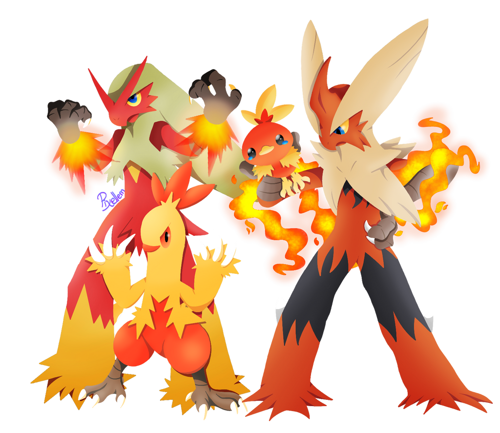 Torchic line by pixellem on deviantart - Pokemon mega evolution blaziken ...